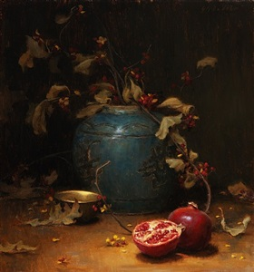 pomegranate & vines (sold) by grace mehan devito