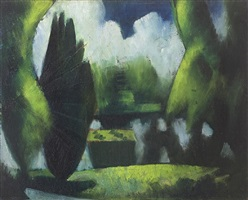 the pond, garsington by mark gertler