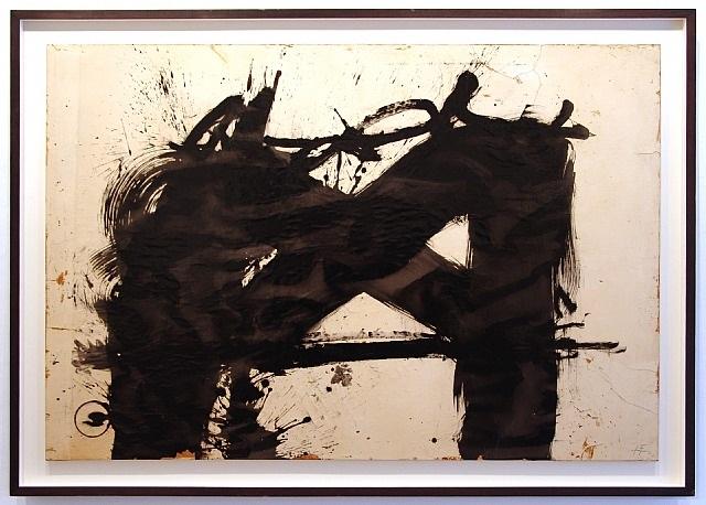gran signo negro by antoni tàpies