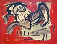 untitled (scaredy cat iv) by hans hofmann