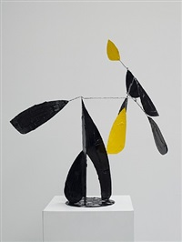 composition noir et jaune by bertrand lavier