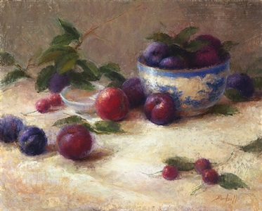 trail of plums (sold) by stephanie birdsall