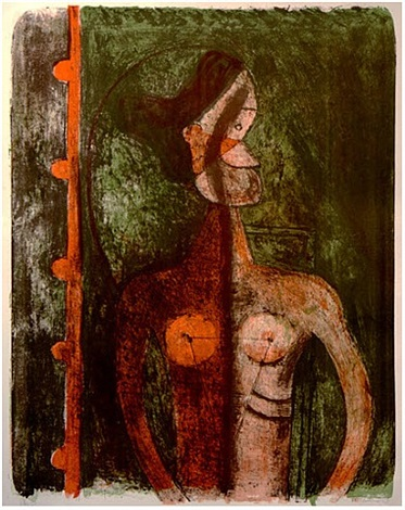 torso of a young woman by rufino tamayo