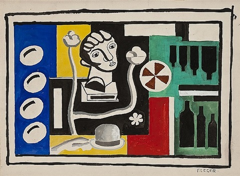 nature morte au buste by fernand léger