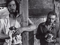 the napier brothers with puppies by shelby lee adams