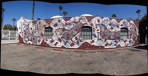 mark moore gallery mural by andrew schoultz