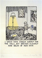 i would have chosen carpet... by glen baxter
