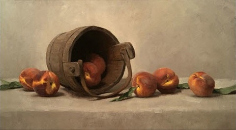 bucket and peaches by sarah k. lamb