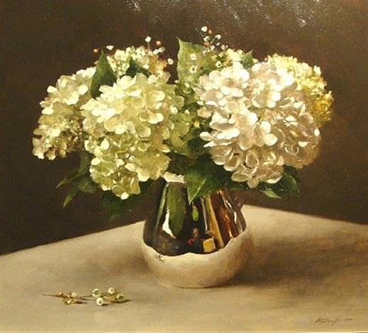 hydrangeas and silver by sarah k. lamb