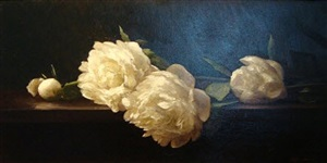 peonies on a table by sarah k. lamb