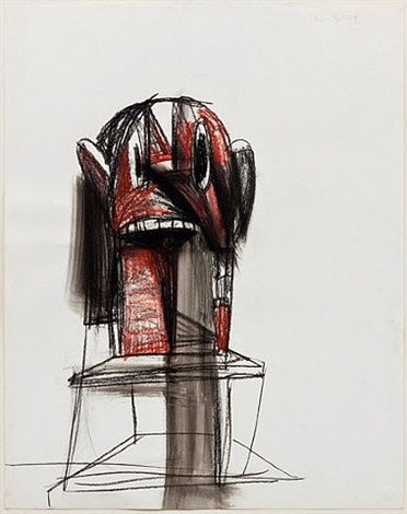 untitled (sculpture study) by george condo