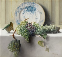 still life with grapes by john elwood bundy