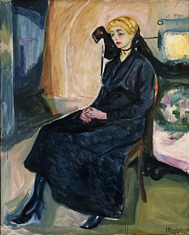 sitzende junge frau / seated young woman by edvard munch