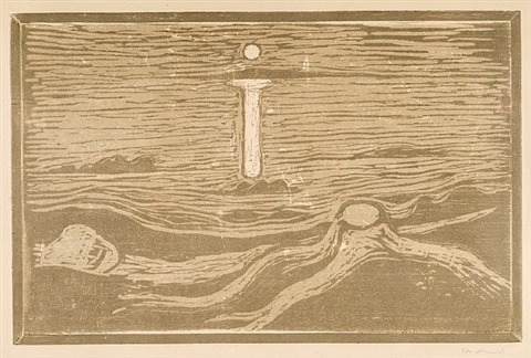 meereslandschaft / mystical shore by edvard munch