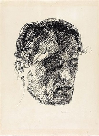 selbstbildnis im schatten (self-portrait in shadow) by edvard munch