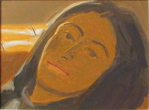 study for portrait of ada by alex katz