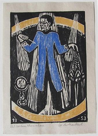 der zauberer (the magician) by erich heckel