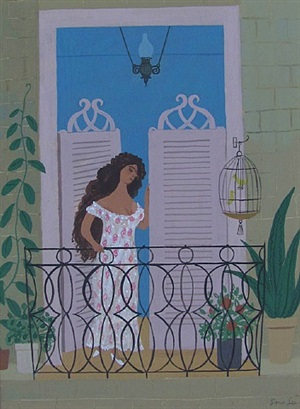 cuban balcony by doris emrick lee