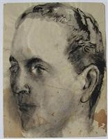 portrait head by pavel tchelitchew