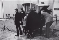 the beatles (around piano) by henry grossman