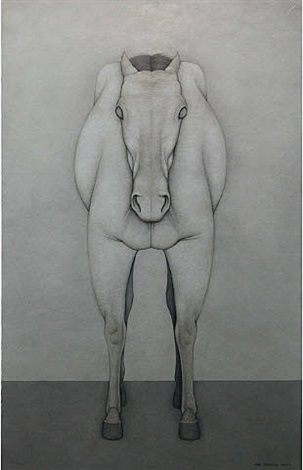 front of a horse by shao fan