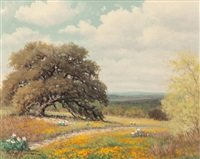 blooming texas countryside by palmer chrisman