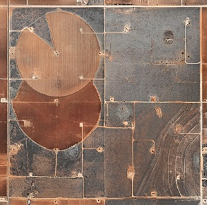 pivot irrigation #19, high plains, texas panhandle, usa by edward burtynsky
