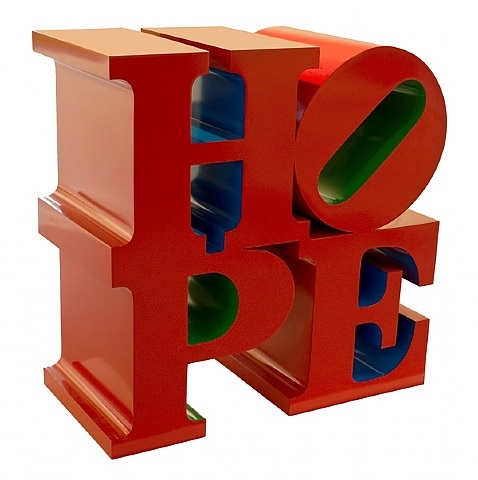 hope red/blue/green by robert indiana