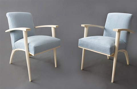 four armchairs by michel dufet