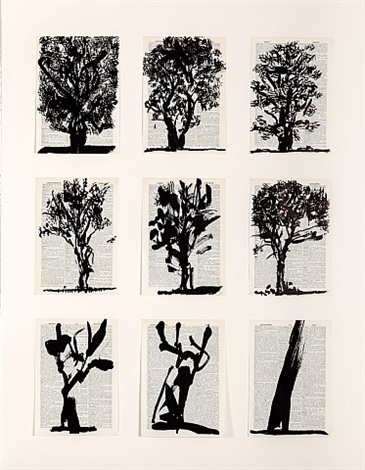 universal archive (nine trees) by william kentridge