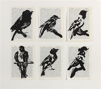 universal archive (six birds) by william kentridge