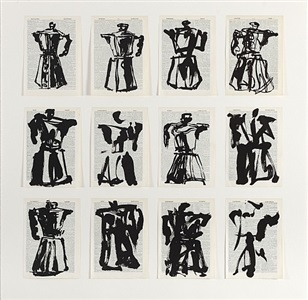 universal archive (twelve coffee pots) by william kentridge