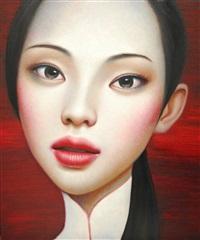 china girl in white by zhang xiangming