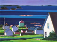 up early, stonington - limited edition print by phoebe porteous