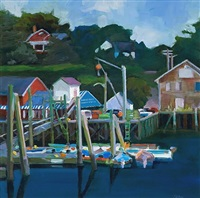 south freeport dock - limited edition print by phoebe porteous