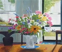 summer kitchen, casco bay - limited edition print by phoebe porteous