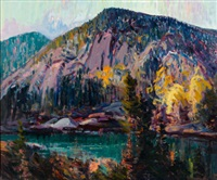 white horse ledge, echo lake by charles curtis allen