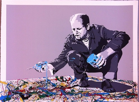 pollock 2009 by mr. brainwash