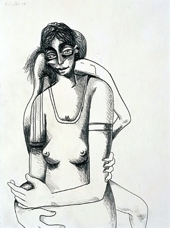 study for incomprehensible dream i by george condo
