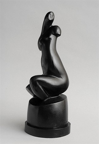 seated black torso by alexander archipenko