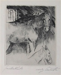pferdstall by lovis corinth