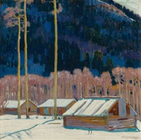 cabins in the blue hills by ernest martin hennings
