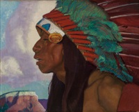 taos indian chief by ernest leonard blumenschein