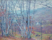 pleasant valley – old lyme, connecticut by robert william vonnoh