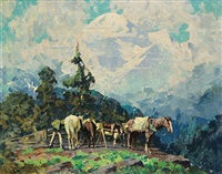 horses at rest by eustace paul ziegler