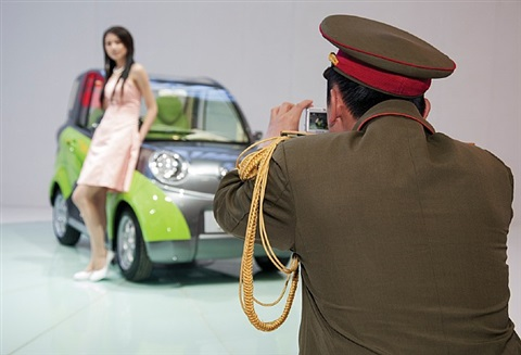 china. beijing. the beijing motor show by martin parr