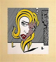 blonde (surrealist series) by roy lichtenstein