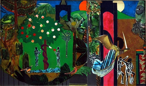 mecklenburg county (expulsion from paradise) by romare bearden