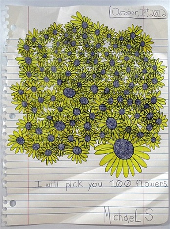 100 flowers by michael scoggins