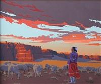sheep at katsina mesa by bill schenck